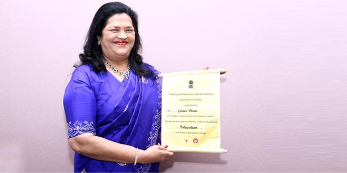 "Madam Grace Pinto amongst  ""100 Women Achievers of India"""