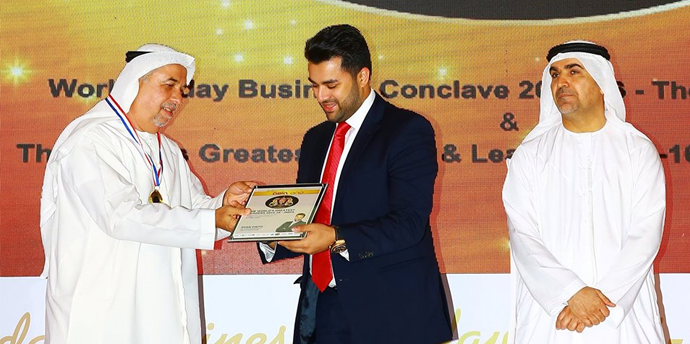 "Mr. Ryan Pinto, CEO, Ryan Group was presented ""The World's Greatest Leader 2015–16  at the World's Greatest Brands and Leaders 2015-16 event held at UAE"