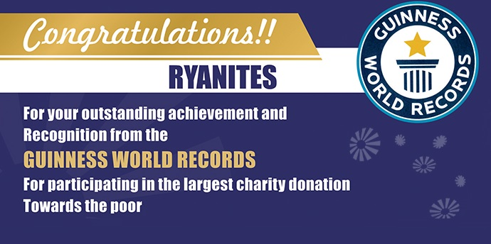 Ryan Schools have been recognized by the GUINNESS WORLD RECORDS